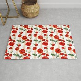 Gouache Poppy Patterns Rug