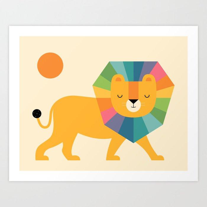 Lion Shine Art Print