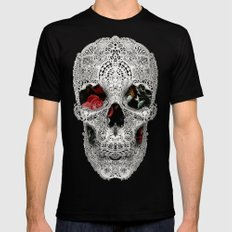 Lace Skull Light Black Mens Fitted Tee X-LARGE