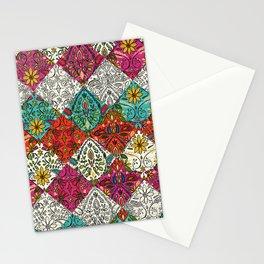 aziza patchwork Stationery Cards