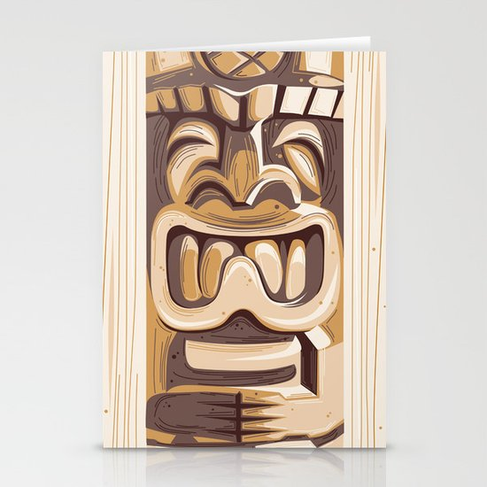 Happy Tiki Stationery Cards