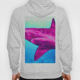 Painted Pink Shark Hoody