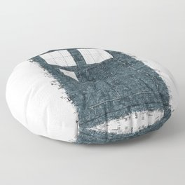 The Timey Wimey of Doctor Who Floor Pillow