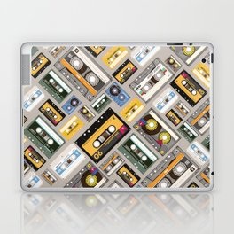 Retro cassette tape pattern 4 Laptop & iPad Skin