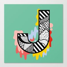 J for ... Canvas Print