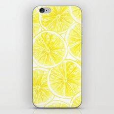Lemon slices pattern watercolor iPhone Skin