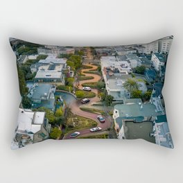 Sunrise at Lombard Street Rectangular Pillow