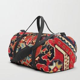Qashqa'i Antique Fars Persian Bag Face Print Duffle Bag