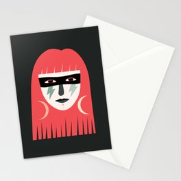 Lightning Bolt Girl Stationery Cards