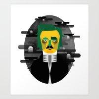edgar allan poe Art Prints featuring Edgar Allan Poe by Kingakong