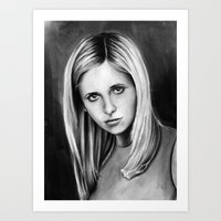 buffy Art Prints featuring buffy by dollface87