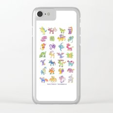 Colorful Animals Clear iPhone Case