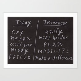 Today/Tomorrow Art Print
