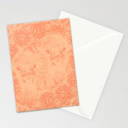 Ghostly alpacas with mandala in peach echo Stationery Cards