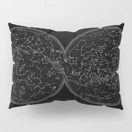 Minimalist celestial sky map Pillow Sham