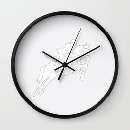 Showjumper in Grey Wall Clock