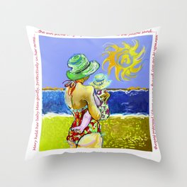 'Mary and Max' (Saw Sea Art Series) Throw Pillow