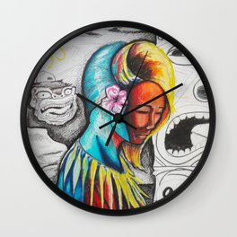 """""""Tiki Girl"""" Wall Clock"""