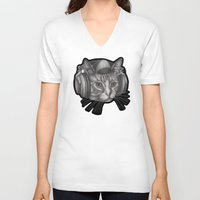 leonardo V-neck T-shirts featuring Leonardo by Kevin Willsey