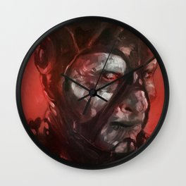 Scorpius portrait in red Wall Clock