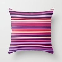 striped Throw Pillows featuring Striped by Scarlet