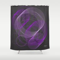 vector Shower Curtains featuring TUBES - vector by Heaven7