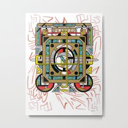 Switchplate - Surreal Geometric Abstract Expressionism Metal Print