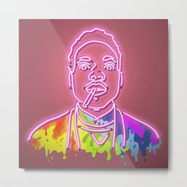 Chance the Rapper - Neon Sign Metal Print