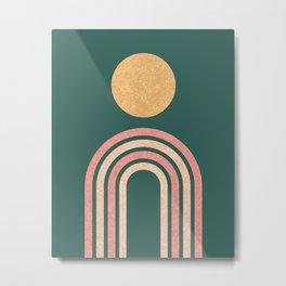 Mid century modern - green Metal Print