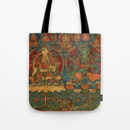 The White Tara and The Green Tara Tote Bag
