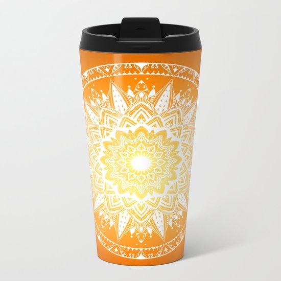 Sunset mandala Metal Travel Mug
