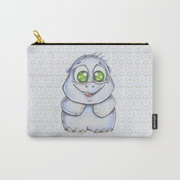 Smiling hippo a portrait Carry-All Pouch