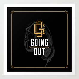 Monograms - Going out Art Print