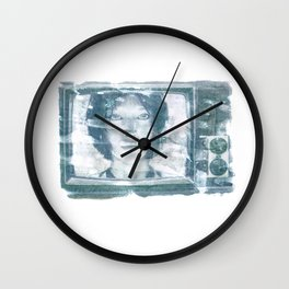 White Noise (cortana from halo) Wall Clock