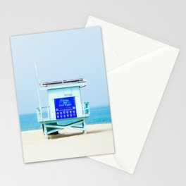 Lifeguard Tower in Southern California Stationery Cards