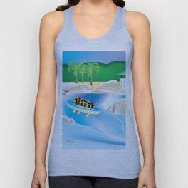 Dominican Republic - Skyline Illustration by Loose Petals Unisex Tank Top
