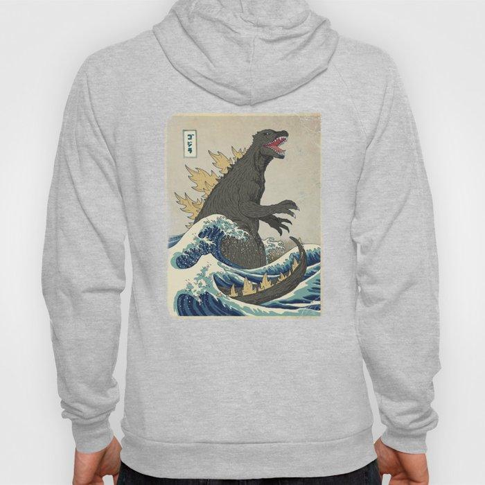 The Great Godzilla off Kanagawa Hoodie