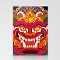 bali Stationery Cards featuring Bali Mask by Aïda de Ridder