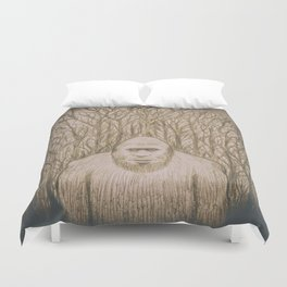 Sasquatch in the woods Duvet Cover
