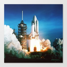 Space Shuttle Launch Canvas Print