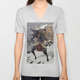 christmas krampus monster Unisex V-Neck