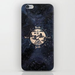 Compass World Star Map iPhone Skin