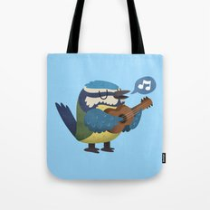 Singing Blue Tit Tote Bag