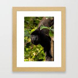 Stand Tall Papa Monkey Framed Art Print