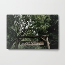 Muir Woods National Monument Sign Metal Print