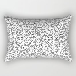 Thought Bubbles Funny Sexy Comic Illustration Rectangular Pillow