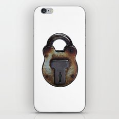 old rusty Lock iPhone Skin