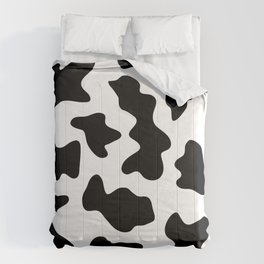 black and white ranch farm animal cowhide western country cow print Comforters