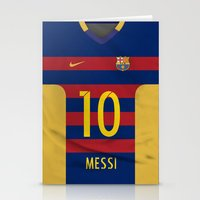 messi Stationery Cards featuring Barcelona Messi by Diego Tirigall