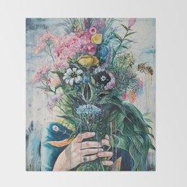 The Last Flowers Throw Blanket